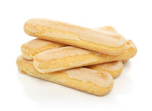 Pile of  ladyfinger savoiardi biscuit cookies Stock Photography