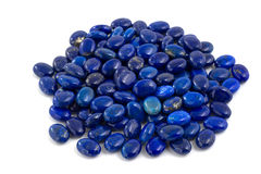 Pile of lapis lazuli beads. Royalty Free Stock Photography