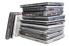 Pile of laptops Royalty Free Stock Image