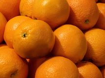 Fresh Navel Oranges Stock Images