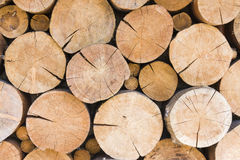 Pile of large timber beams Stock Photography