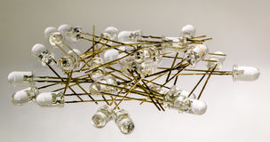 Pile of leds. Pile of 5mm light-emitting diodes stock images