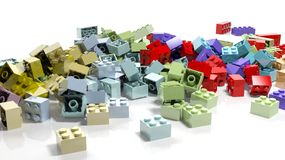 Pile of lego blocks Royalty Free Stock Photos
