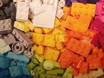 Pile of Legos. Colorful pile of Legos royalty free stock photos