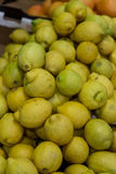Pile of lemons from a market Royalty Free Stock Photos