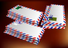 Pile of letters Stock Image