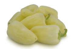 Pile of light Yellow Pepper isolated on white background Stock Image