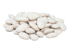 Pile Lima Bean isolated on white background. Royalty Free Stock Photos