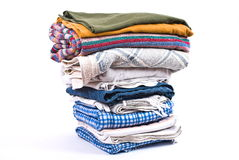 Pile of linen. On white Royalty Free Stock Photography