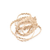 Pile of a linen rope string isolated Royalty Free Stock Photo