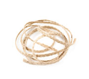Pile of a linen rope string isolated Stock Photography