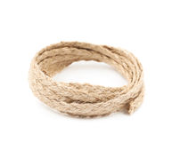 Pile of a linen rope string isolated Royalty Free Stock Photography