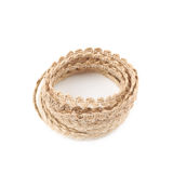 Pile of a linen rope string isolated Royalty Free Stock Images