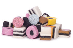Pile of Liquorice allsorts Royalty Free Stock Image