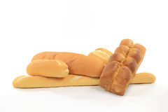 Pile from Loafs of Special Breads. Royalty Free Stock Image