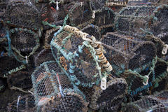 Pile of Lobster and Crab fishing pots Stock Photography