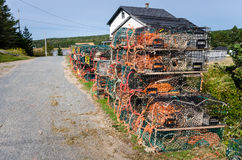 Pile of Lobster Pots Royalty Free Stock Photography