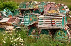 A pile of lobster traps. Royalty Free Stock Photography