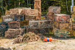 A Pile of Lobster Traps Royalty Free Stock Images