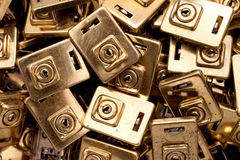 Pile of Locks. A pile of security locks makes up this security background stock images