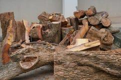 Pile of log Stock Image