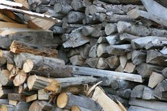 Pile of logs. Cross section of a pile of logs Stock Photography