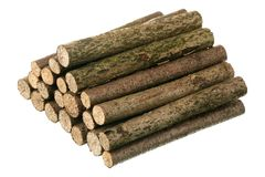 Pile of logs Stock Images