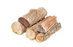 Log wood pile Stock Photos