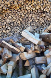 Pile of logs for firewood Royalty Free Stock Photo