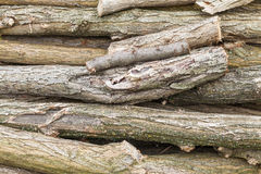 Pile of logs of firewood Royalty Free Stock Photography