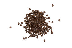 Pile of Loose Coffee Beans Isolated Royalty Free Stock Photo