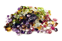 Pile of loose gemstones Stock Images