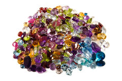 Pile of loose gemstones Royalty Free Stock Image