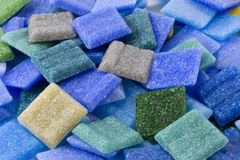 Pile of loose glass mosaic tiles Stock Photo