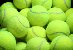Pile of loose tennis balls Royalty Free Stock Images