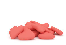 Pile of love hearts Royalty Free Stock Photography