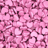 Pile of love hearts. Valentines day background Royalty Free Stock Photography