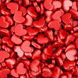 Pile of love hearts. Valentines day background Stock Photo