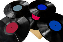 Pile of lps records Royalty Free Stock Photo