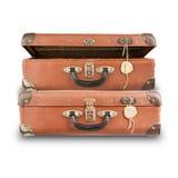 Pile of luggage isolated Stock Image