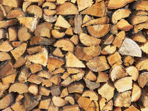 PILE OF LUMBER. Waiting for cold days for burn Stock Images