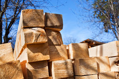 Pile of lumber Royalty Free Stock Photos
