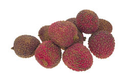 Pile of lychee nuts Royalty Free Stock Photos