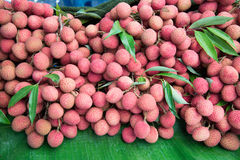Pile of lychee. For sale in local market Royalty Free Stock Image