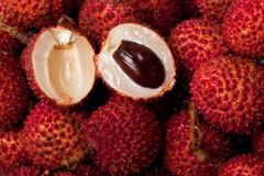 Pile of lychees Stock Photos