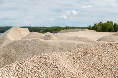 Pile of macadam stone in quarry. Pile of macadam stone in a quarry Royalty Free Stock Images