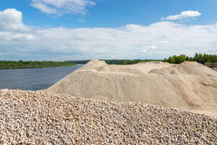 Pile of macadam stone in quarry Royalty Free Stock Image
