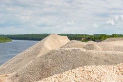 Pile of macadam stone in quarry. Pile of macadam stone in a quarry Royalty Free Stock Photography