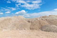 Pile of macadam stone in quarry. Pile of crushed stone in a quarry Stock Image