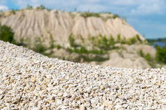 Pile of macadam stone in quarry. Pile of rubble in a quarry Royalty Free Stock Images